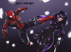 Spider-Man vs Miss Fortune Round 3 endgame by Nevillemadan007