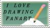 Fanart stamp by katthekat