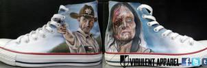 The Walking Dead shoes by VirulentApparel