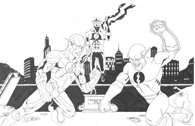 The Flash vs. Prof. Zoom by onizuka43