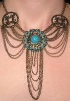 Turquoise Chandelier Necklace by SugarSparkles