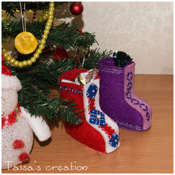 New Year Christmas Stocking Boots by Taisa-Winged
