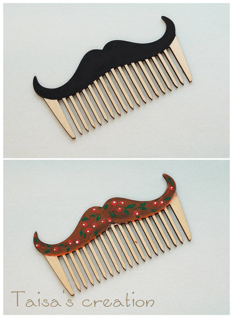 Mustached Comb by Taisa-Winged