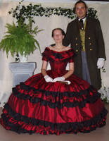 Victorian 1860 ball gown by DeredereGalbraith