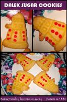 Dalek Sugar Cookies by starlite-decay
