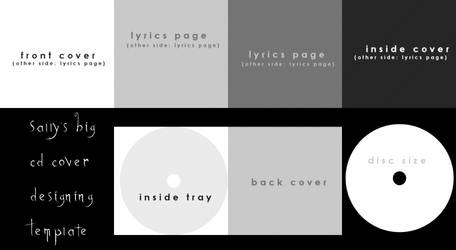CD Cover Design Template by zoeil