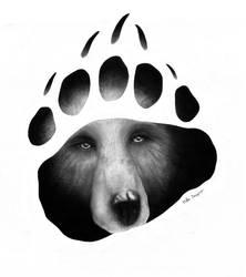 Bear paw tattoo by mika525