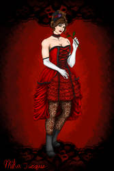 lady in red by mika525