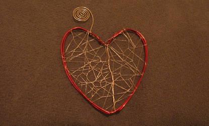 Webbed Wire Heart by Jess-9000