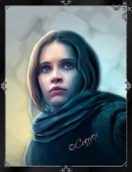 Jyn Erso Portrait by Cuervex