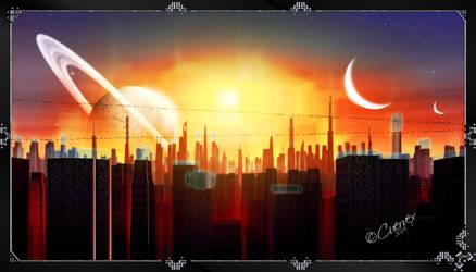 Sunset by Cuervex