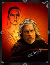 Luke and Rey by Cuervex