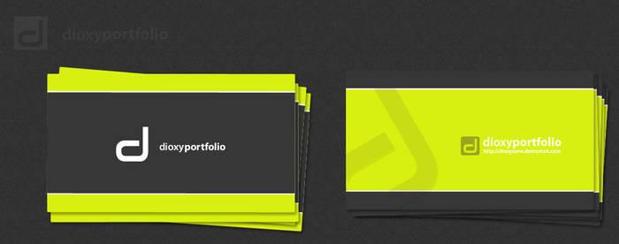 dioxyportfolio business card by DesignersJunior