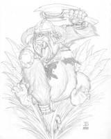Battle Ape pencil (WIP) by J-Ian-Gordon