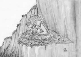 Brooding Gryphon by J-Ian-Gordon