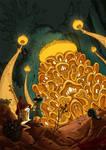 The Mushroom King by daHinci