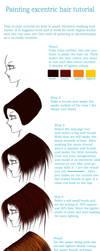 Painting hair tutorial by Teodora-Chinde