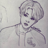 Park Jimin Sketch by JustSher