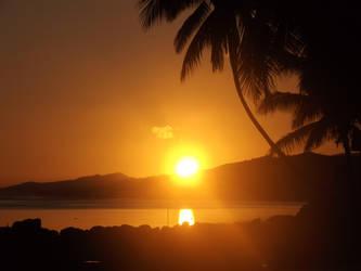 sunset..coral coast by bergamont27