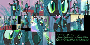 Queen Chrysalis of the Changlings by SplatterSky