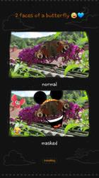 2 faces of a butterfly by WolvesAngelSiren