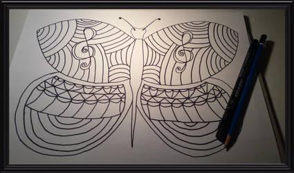 doodle  butterfly by WolvesAngelSiren