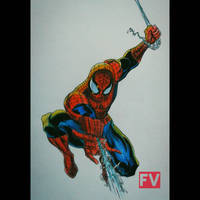 Marvel Comics - Spider Man (colored) by FVentura