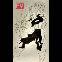 Dragonball Super - vegeta's final flash by FVentura