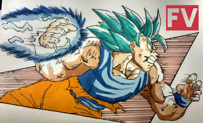 Dragon Ball Super - Goku SSGSS by FVentura
