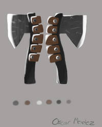 AP - Axe design (Illustration assignment) by Sparrow26657