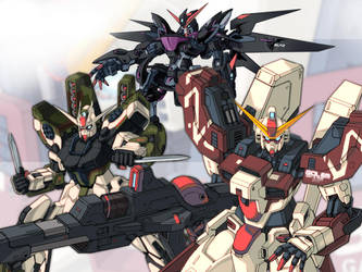 Gundam Seed Golem - Fan Art by golfdesigngrafik