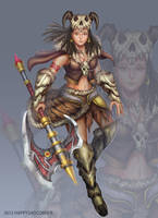 Barbarian Girl by HappySadCorner