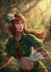 Lady of the Spring by HappySadCorner