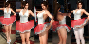Mai red seethrough skirt by funnybunny666