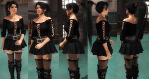 Momiji black skirt by funnybunny666