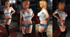 Tina denim shorts by funnybunny666