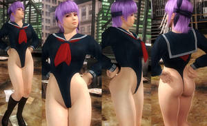 Ayane School Highcut Leg by funnybunny666