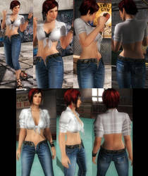 Mila Denim Pants by funnybunny666
