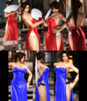 Mai Red and Blue Dress (x2) by funnybunny666