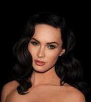 Megan Fox Digital Portrait by vannenov