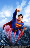 Christopher Reeve as Superman by iskandarsalim