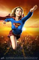 Elisha Cuthbert as Supergirl by iskandarsalim