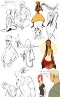 Colourful weird folk by Chopstuff