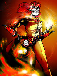 LnD-O-Ween 1: Ghost Rider Amy by LnDDeviantart