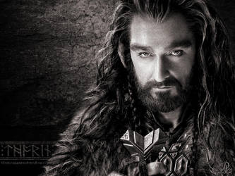 Thorin Oakenshield - The Hobbit Wallpaper 1024x768 by DarqueJackal