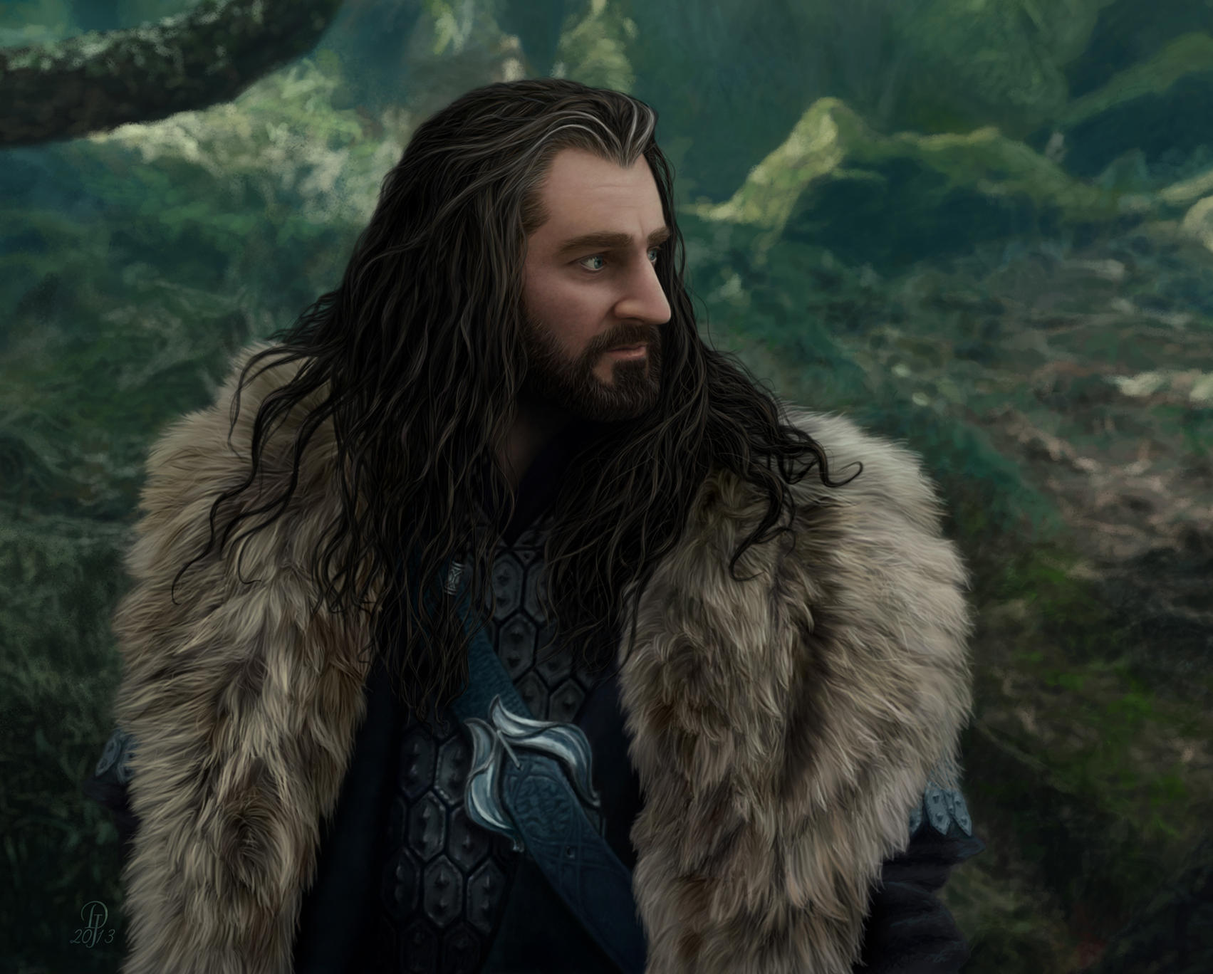 Thorin Oakenshield - Imminent Attack by DarqueJackal