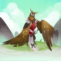 Owl Warrior Concept by jeffchendesigns