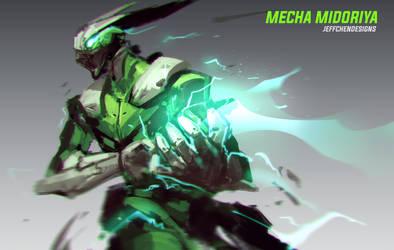Mecha Midoriya by jeffchendesigns