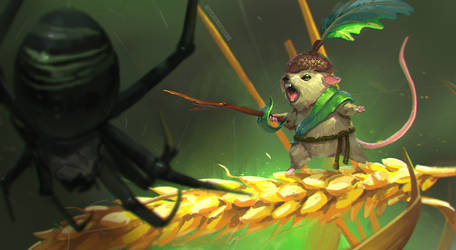 Mouse Warrior by jeffchendesigns