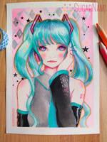 Hatsune Miku by Sugar-Nami